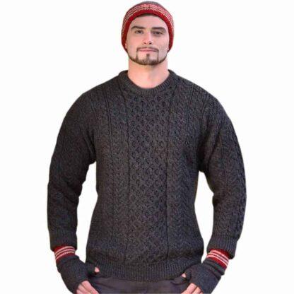 Irish Wool Sweater - Gray