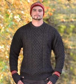 Irish Wool Sweater Gray
