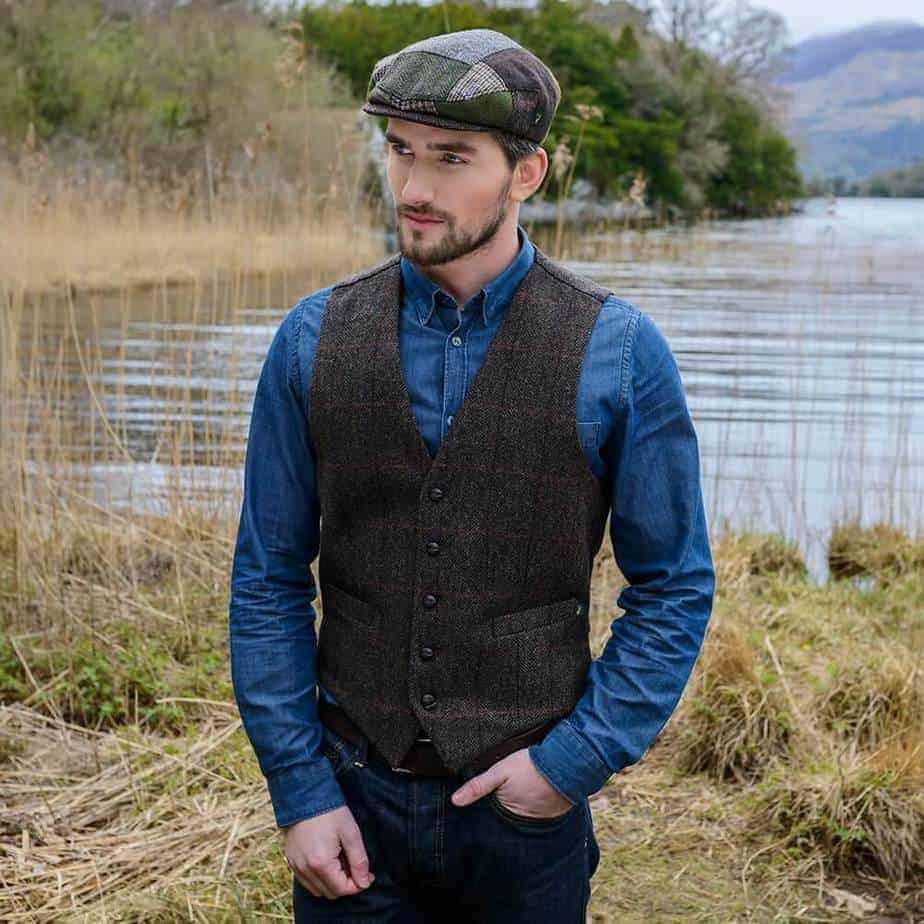 Irish Tweed Vest - Brown