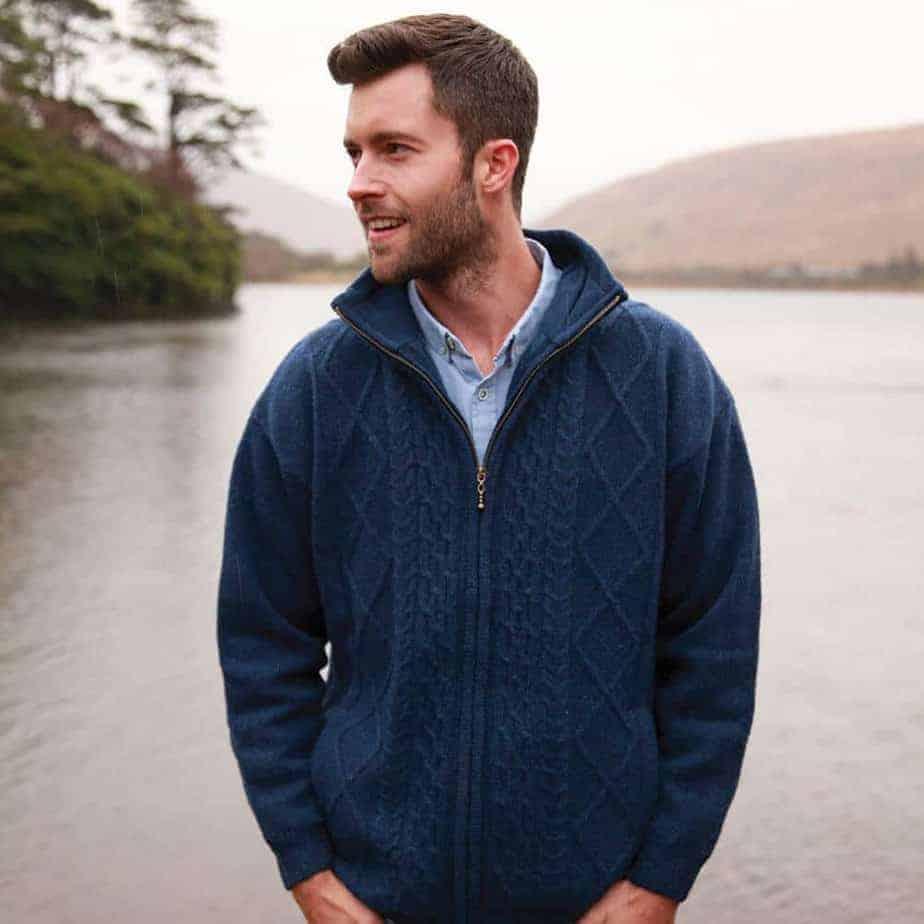 Men's Wool Sweater. Made in Ireland.