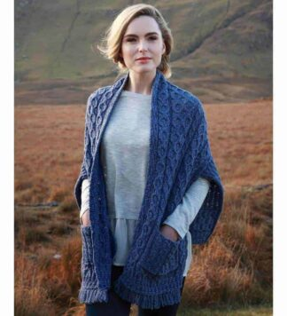 Ladies Irish Wool Wrap. Made in Ireland