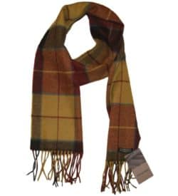 Irish Plaid Wool Scarf