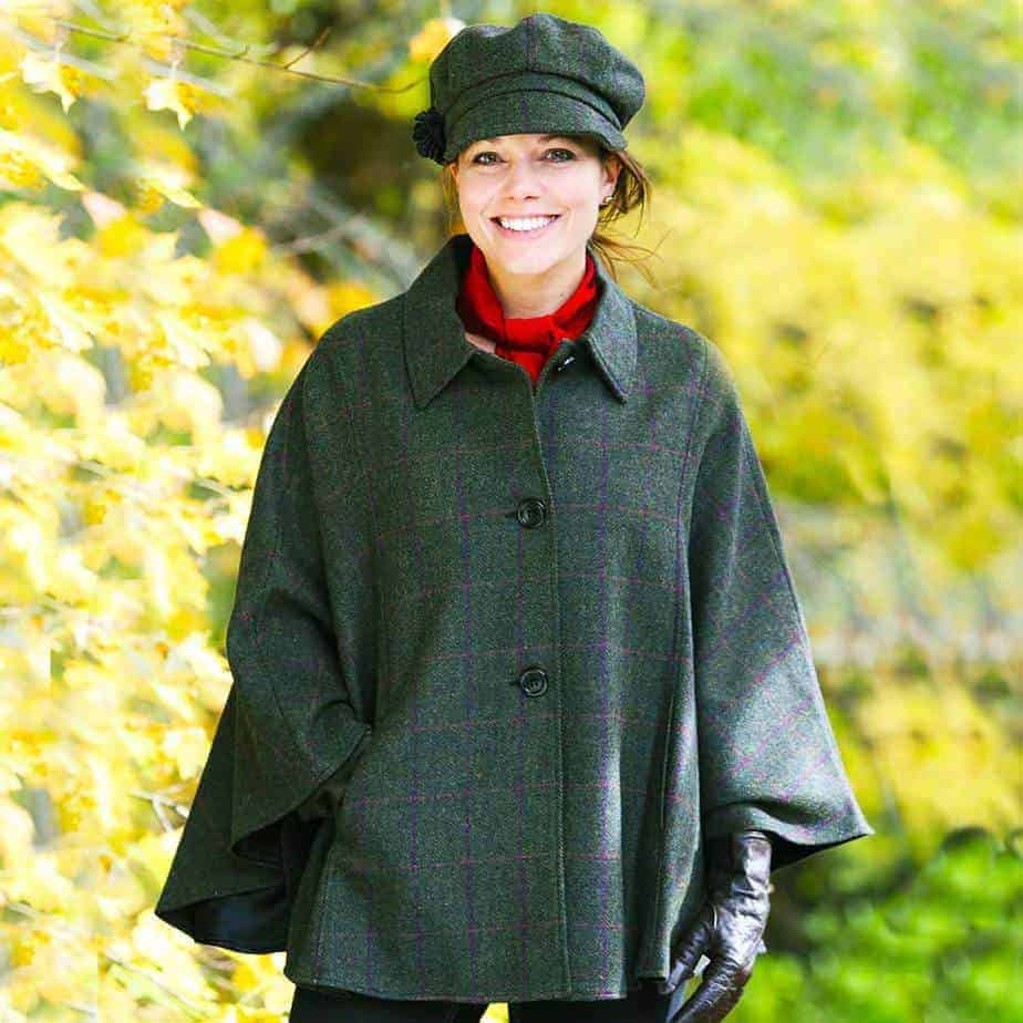 Ladies Tweed Cape - Made in Ireland
