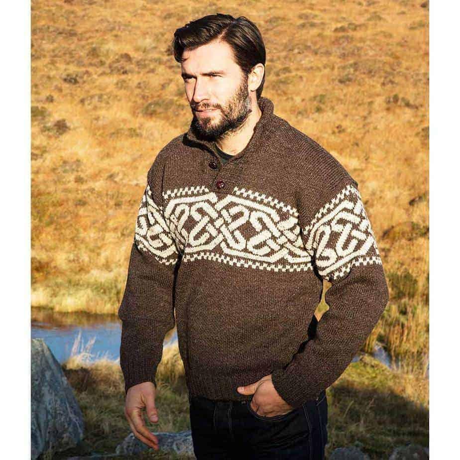 Irish Wool Sweater for Men