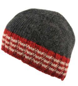Gray Beanie Hat - Irish Wool.