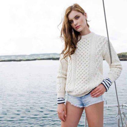 Irish Aran Wool Sweater.