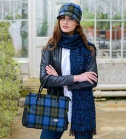 Plaid hat and bag combo