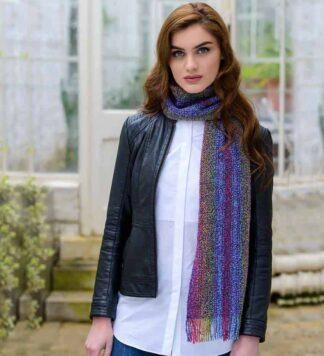 Ladies Mohair Scarf - Rainbow Colors