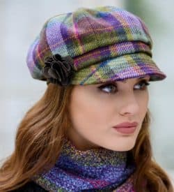 Ladies Plaid Newsboy Cap