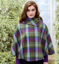Ladies Plaid Poncho
