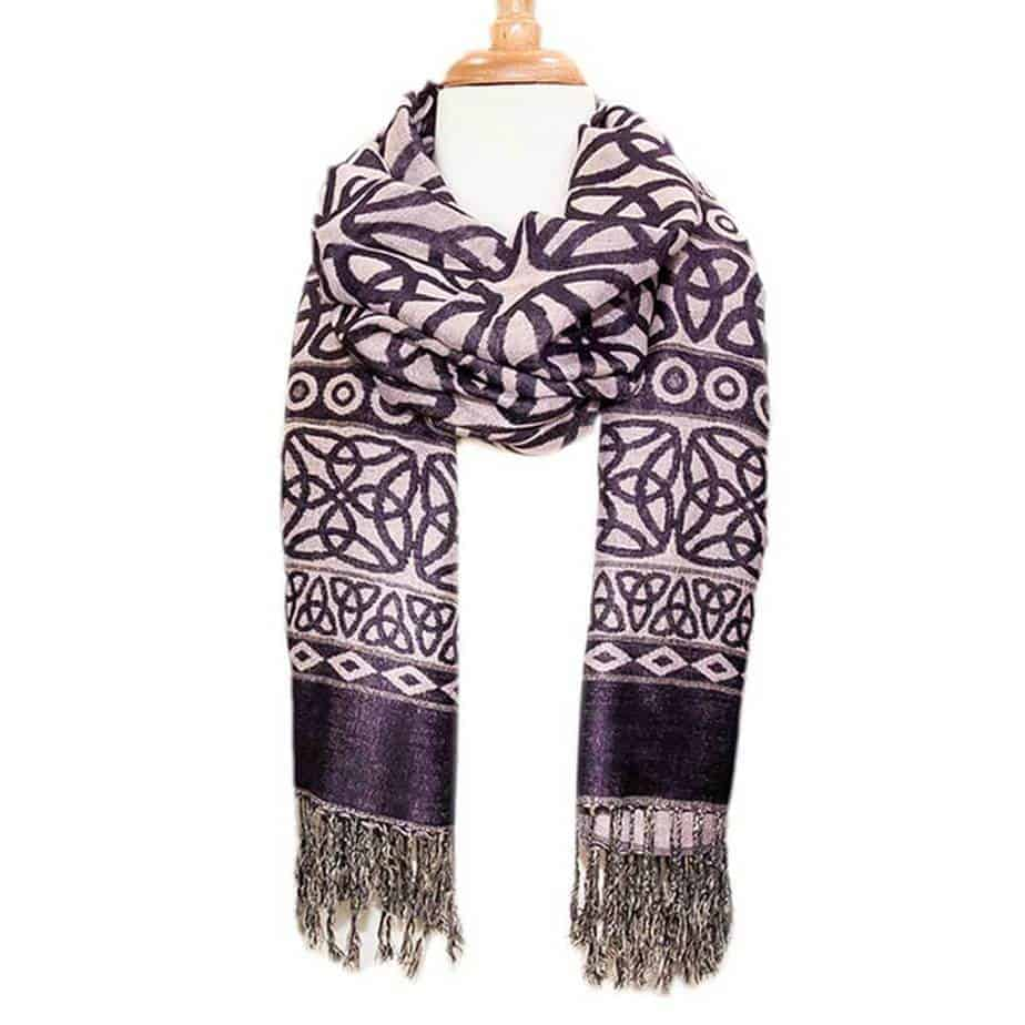 Womens Purple Lavender Scarf
