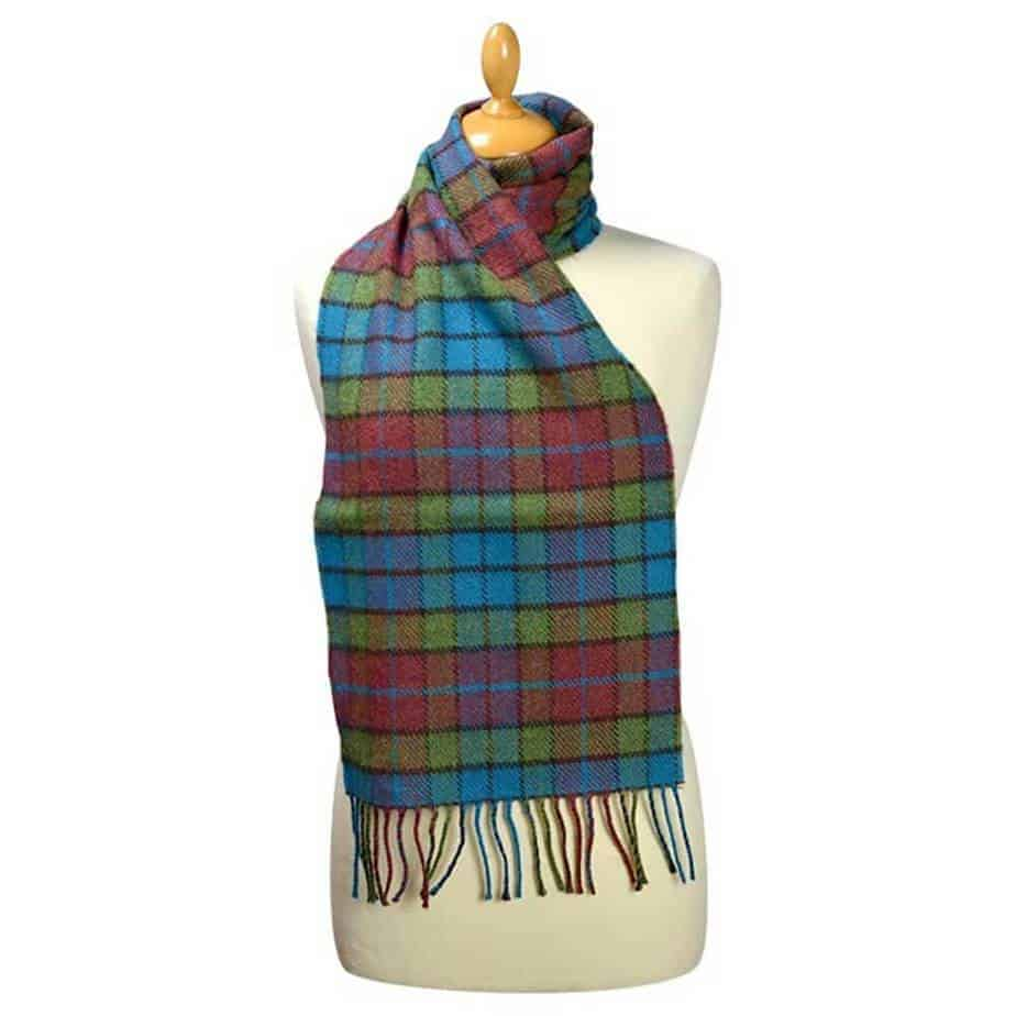 Lambswool Plaid Wool Scarf