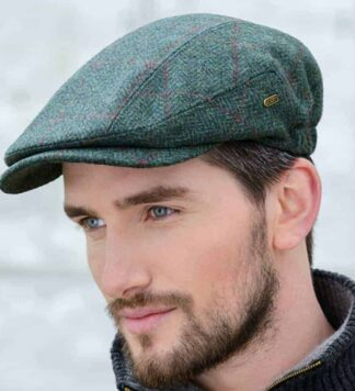 Green Irish Tweed Flat Cap