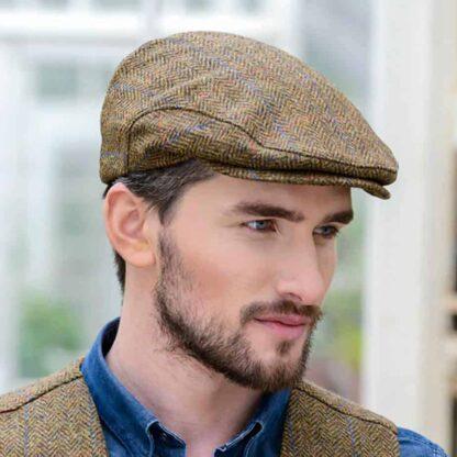 Brown Tweed Flat Cap