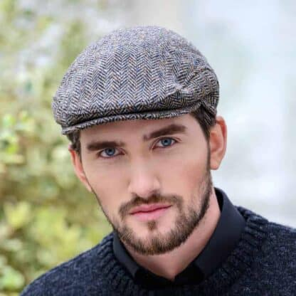 Irish Tweed Flat Cap - Gray, Peaky Blinders