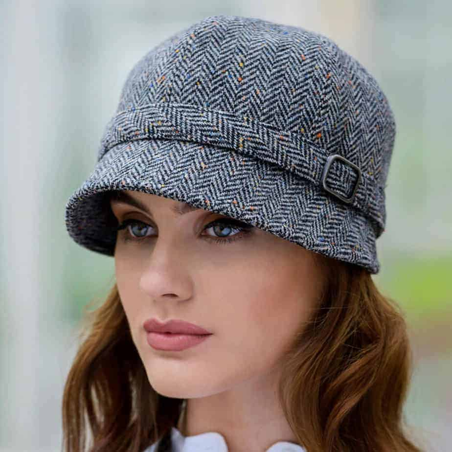 e2faeb92e2216c Tweed Flapper Cap - Gray | Celtic Clothing Company
