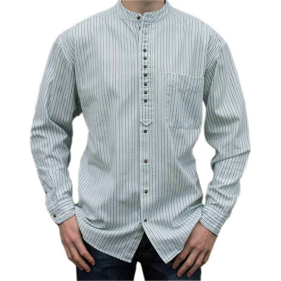 Irish-Grandfather-Shirt-Green-Pinstripe