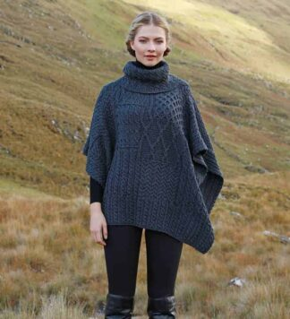 Irish Wool Cape Cowl Neck