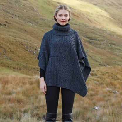 Irish Wool Cape Cowl Neck
