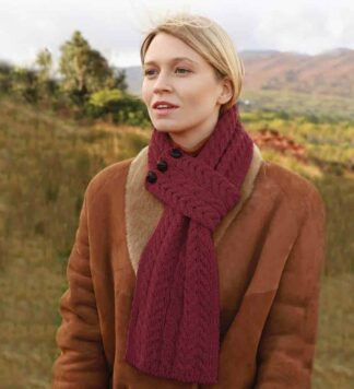 Irish Red Wool Scarf