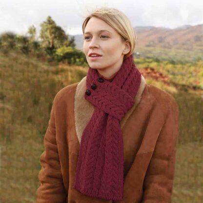 Irish Red Wool Scarf