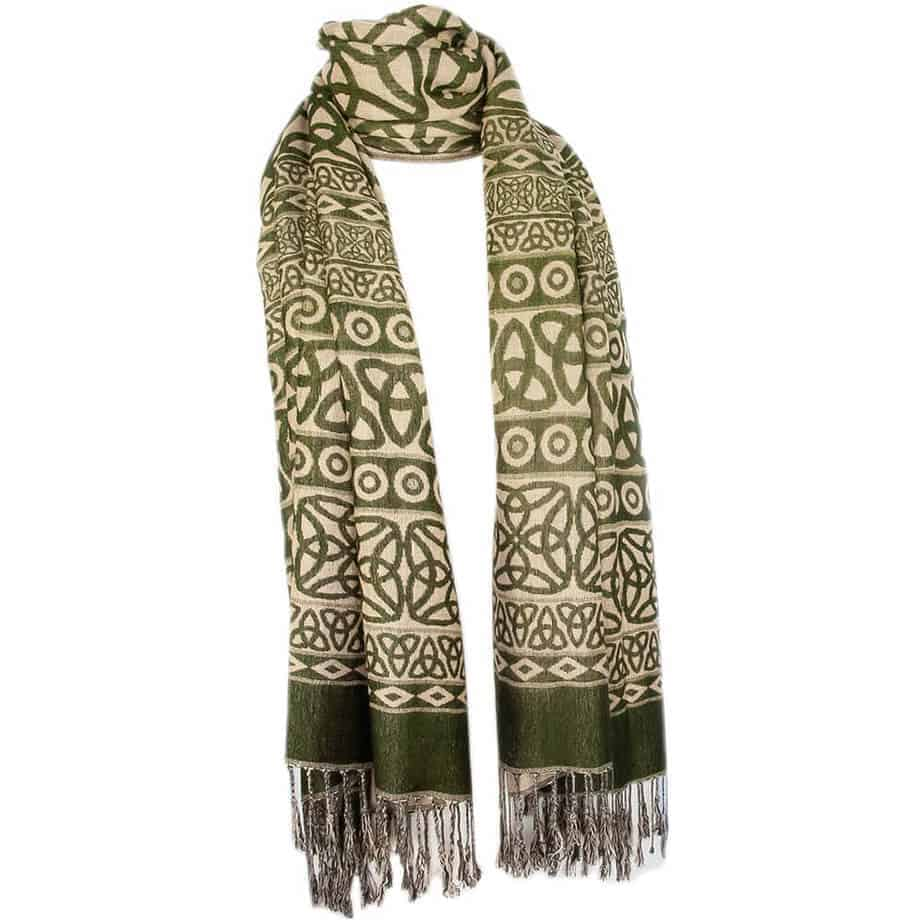 green celtic scarf celtic clothing company