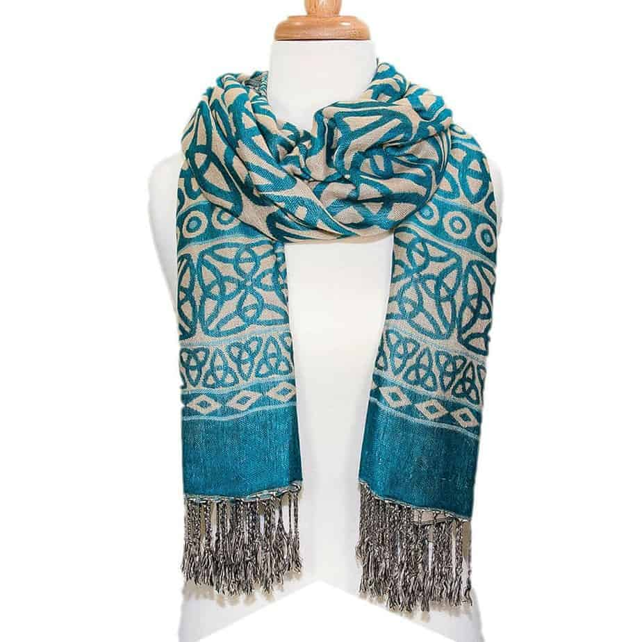 celtic knot scarf turquoise celtic clothing company