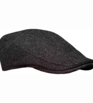 Tweed Ivy Cap Dark Gray
