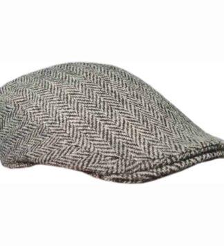 Gray Irish Tweed Cap by Hanna Hats