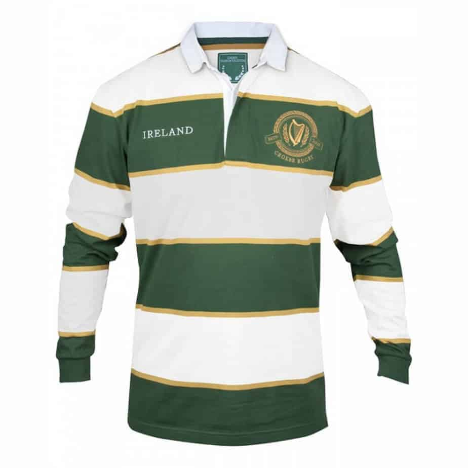 Irish Rugby Jersey Green and White