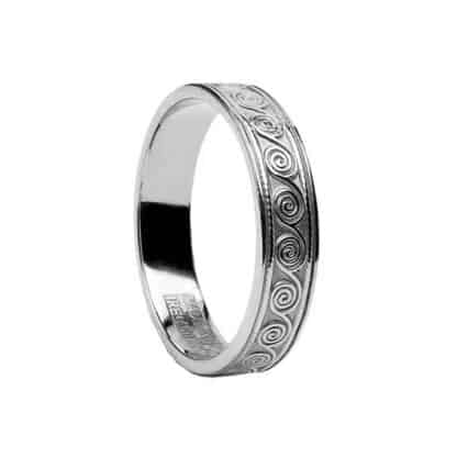 Silver Celtic Spiral Ring