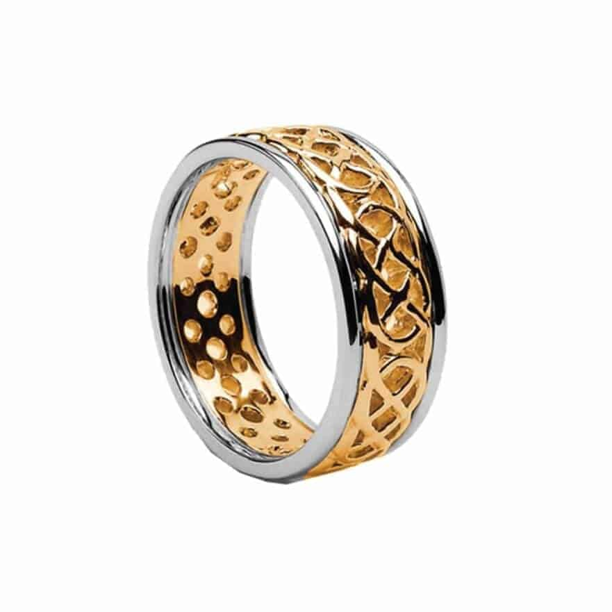 Gold Celtic Lovers Knot Ring