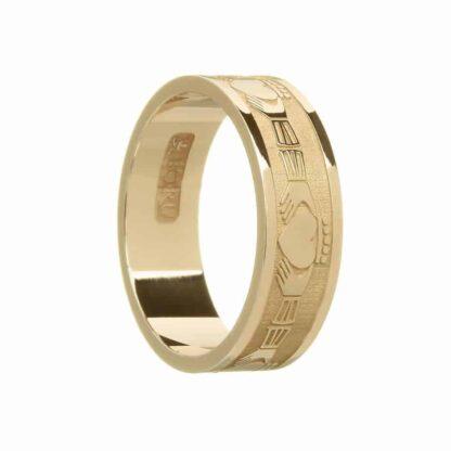 Modern Gold Claddagh Ring